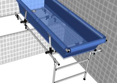 Support Mural perpendiculaire pour sur-bain